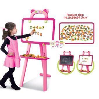 JKP Toys ของเล่นเสริมพัฒนาการ กระดาน 3 in 1 Learning Easel สีชมพูหวาน