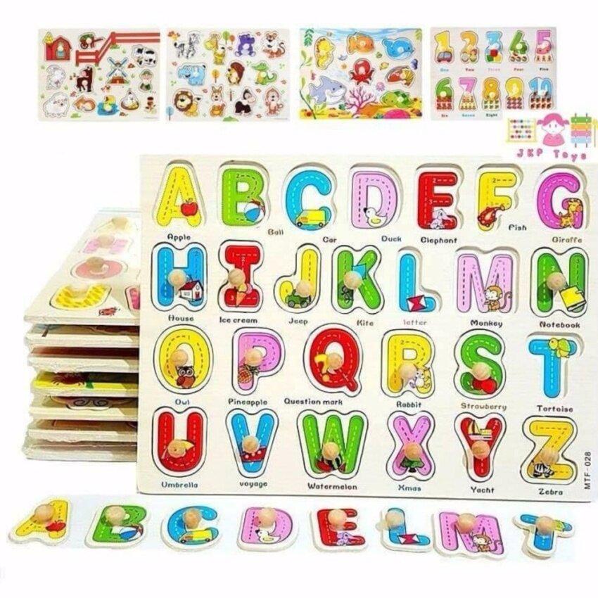 ขาย JKP Toys ของเล่นเสริมพัฒนาการ เซทหมุดไม้ รวมจิ๊กซอว์เสริมความรู้ 8 เเผ่น (ภาษาไทย-อังกฤษ ตัวเลขเเละสัตว์ต่างๆ)