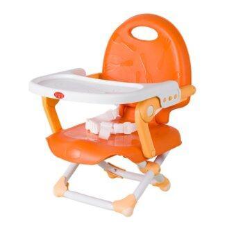 Jumper Kids เก้าอี้ทานข้าวเด็ก ปรับระดับได้ มีสายรัดกันตก สีส้ม