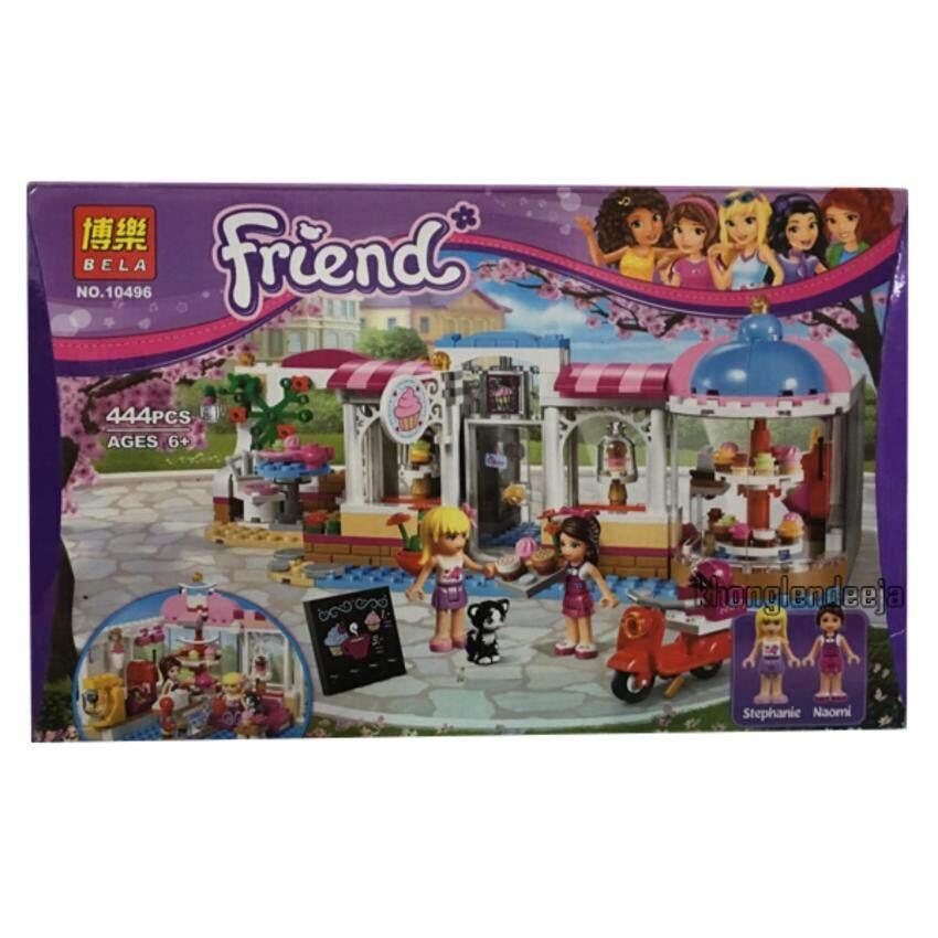 Khonglendee ชุดตัวต่อเลโก้ Friends ร้านขายขนม No.10496 (444 PCS.)