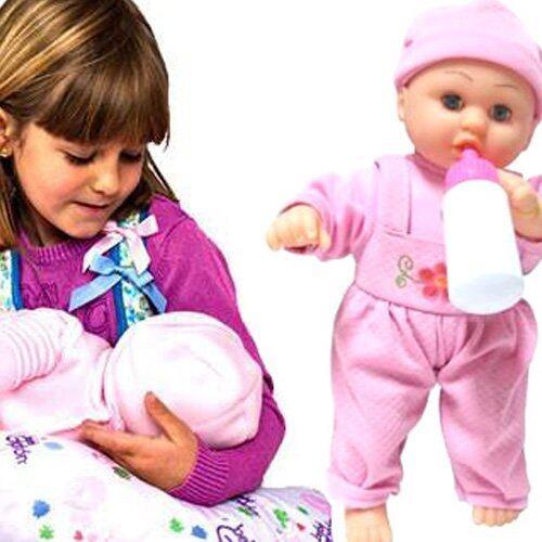 Kids Toys ของเล่นเด็ก ตุ๊กตาเด็กทารก ดูดนมได้ มีเสียง เล่นได้เหมือนเลี้ยงน้องจริงๆ image