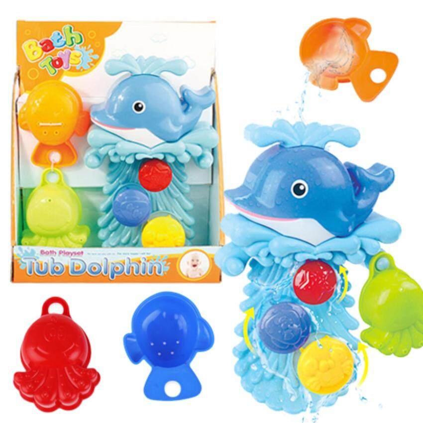 Kids Toys ชุดของเล่นในห้องน้ำ ปลาโลมากังหันน้ำแสนสนุก