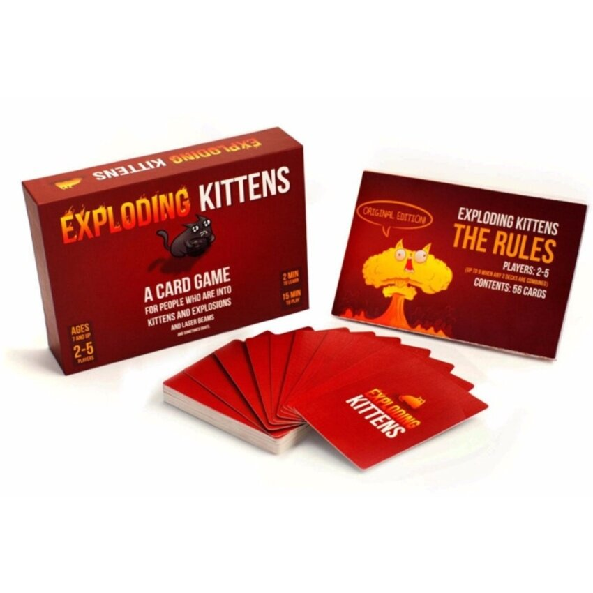 Kittens Cards Board Games Explosion CAT Bumb Kitten Game Original Version Exploding Best Gift for Family PARTY - intl