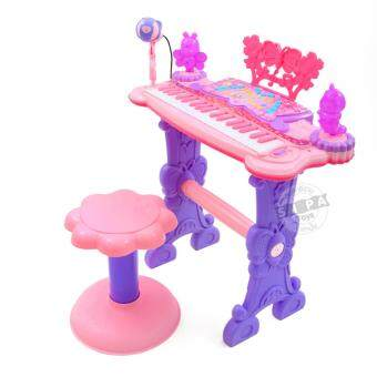 KJTOYS Electronic Keyboard Beauty Piano สีชมพู
