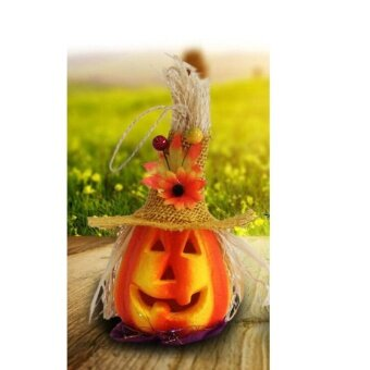 LED Pumpkin Lights Scarecrow Party Props Halloween KTV Bar Decor Night Lamp - intl