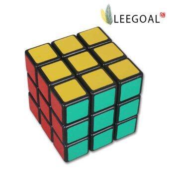 Leegoal พีวีซีสติกเกอร์รูปความเร็ว 6 สี Stickerless Rubik ลูกบาศก์(5.7 x 5.7ซม หลายสี)