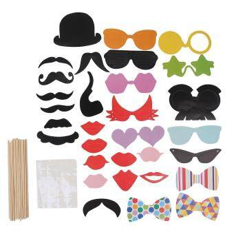 Harga leegoal Photo Booth Props DIY Kit For Halloween Christmas WeddingBirthday Graduation Party,Photobooth Dress-up Accessories PartyFavors,31 Set - intl
