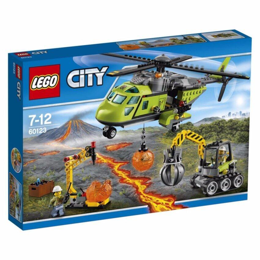 LEGO ตัวต่อเสริมทักษะ เลโก้ ซิตี้ อิน/เอาท์ โวลเคโน่ ซัพพลาย เฮลิคอปเตอร์ - 60123