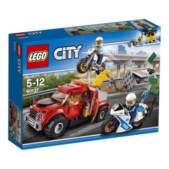LEGO ตัวต่อเสริมทักษะ เลโก้ซิตี้ โพลิซโทว ทรัค ทรอบเบิล Tow Truck Trouble - 60137