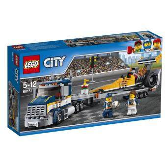 LEGO ตัวต่อเสริมทักษะ เลโก้ซิตี้ เกรท เวฮิเคิลส์ดรัคสเตอร์ ทรานสปอร์ตเทอร์ Dragster Transporter _ 60151