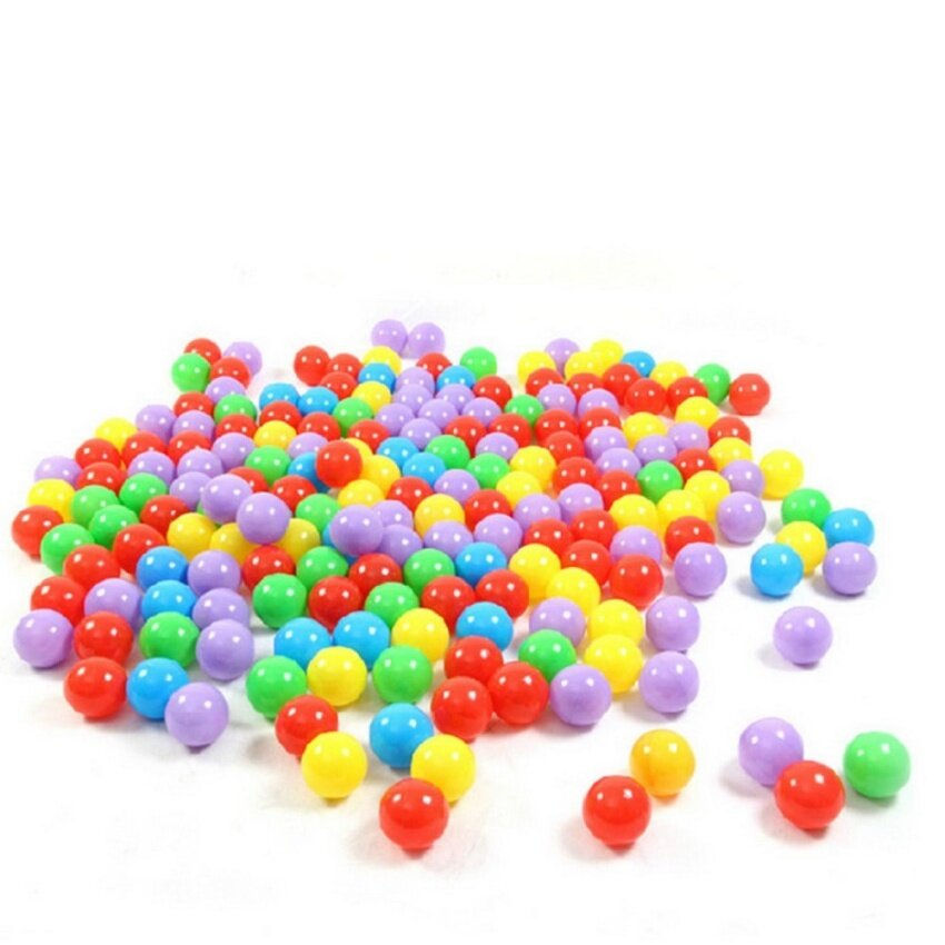 linxing Ball Pit Balls For Baby Kids 100pcs Non-Toxic Crush Proof Ocean Plastic Ball - intl