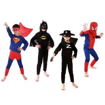 (L)kids superhero costume costumes set cloths boys birthday Partychildren super hero cape - intl