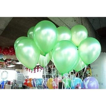 Lokman 12 Inch Ultra Thickness Light Green Latex Metallic Balloons  100 Pieces (Light Green) - intl