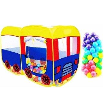 Lookmee Shop เต็นท์บ้านเด็กรถบัส + บอลหลากสี 100 ลูก