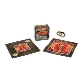Lord of the Rings Checkers/Tic Tac Toe Combo Game - intl