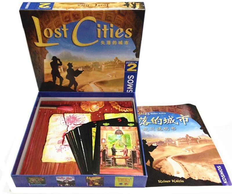 Lost Cities World Adventure Playing Card board Game - intl