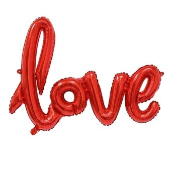 Love Foil Balloon Wedding Anniversary Party Decoration ValentinesRed by LuckyGirl Store - intl