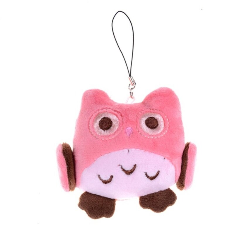 Lovely Hand Bel Owl Plush Fabric Toy Owl Pendant Wedding Gifts Kids Gift - intl