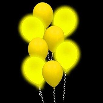 Lumi - Loons Balloon Lights Yellow Balloons White Lights - 10 Pack - intl
