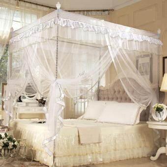 Luxury Four Corner Post Bed Curtain Mosquito Net White 1.2x2M - intl