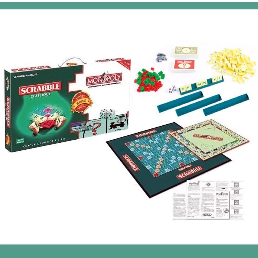 LUXX 2in1 Scrabble & Monopoly เกมส์ต่อคำศัพท์ + เกมส์เศรษฐีในกล่องเดียว