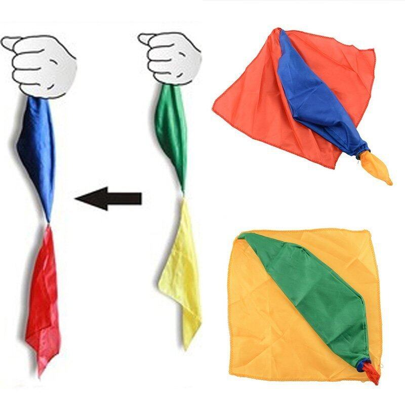 Magic Silk Change Color Scarf Trick Joke Props Tools Magician Toys - intl image