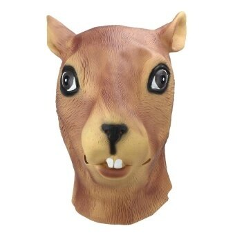 Magical Creepy Adult Squirrel Head Latex Rubber Mask Animalcostume Prop Toys Party - intl