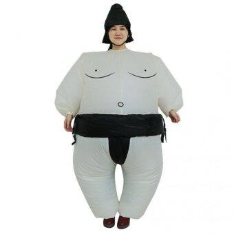 MagiDeal Inflatable Sumo Wrestlers Fancy Dress Costume Fat Suit HenStag Night Outfit - intl