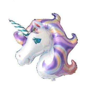 MagiDeal Large Unicorn Aluminum Foil Balloon Kids Birthday PartyDecoration Purple - intl