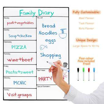 Harga Magnetic Whiteboard Memo Stickers Message Boards for Refrigerator16*11.75 Inches