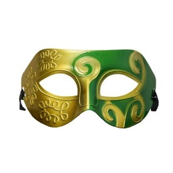 Mask Carved Flowers Face Prom Jazz Prince Party Plastic ProtectorCostume - intl