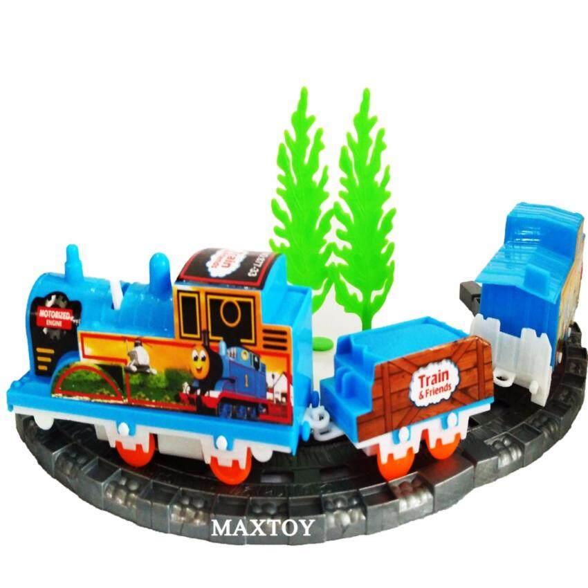 MAX TOY ของเล่น รถไฟการ์ตูนใส่ถ่านพร้อมราง 877-33