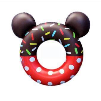 ห่วงยาง โดนัท มีหู Medium Size ห่วงยางแฟนซี ห่วงยางเป่าลม รูป Donut มีหู 70 cm