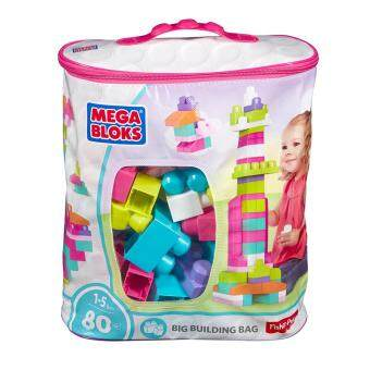 Harga MEGA BLOKS® First Builders™ Big Building Bag PINK