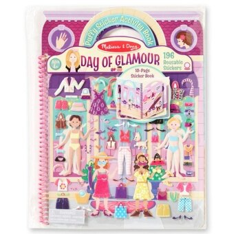 Melissa & Doug Puffy Reusable Sticker Book - Day of Glamour