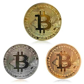 Metal Mini Cute Bitcoin Coin Collectible BTC Coin Art CollectionMedal Present - intl