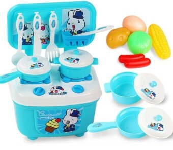 MINI Role Play KITCHEN playset KIDS Cooking Kit Food set