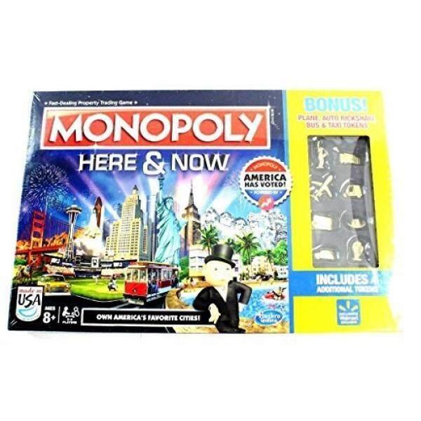 Monopoly Here & Now Game US Edition Bonus Plane Auto Rickshaw Bus & Taxi Tokens