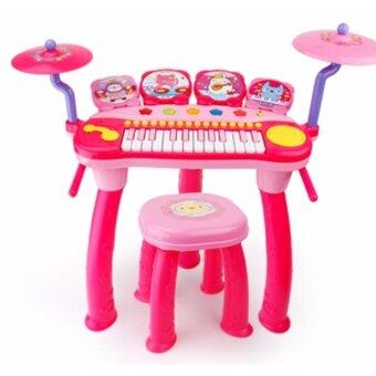 Morestech เปียโน 14 คีย์ พร้อมเก้าอี้ 1601 สีชมพู
