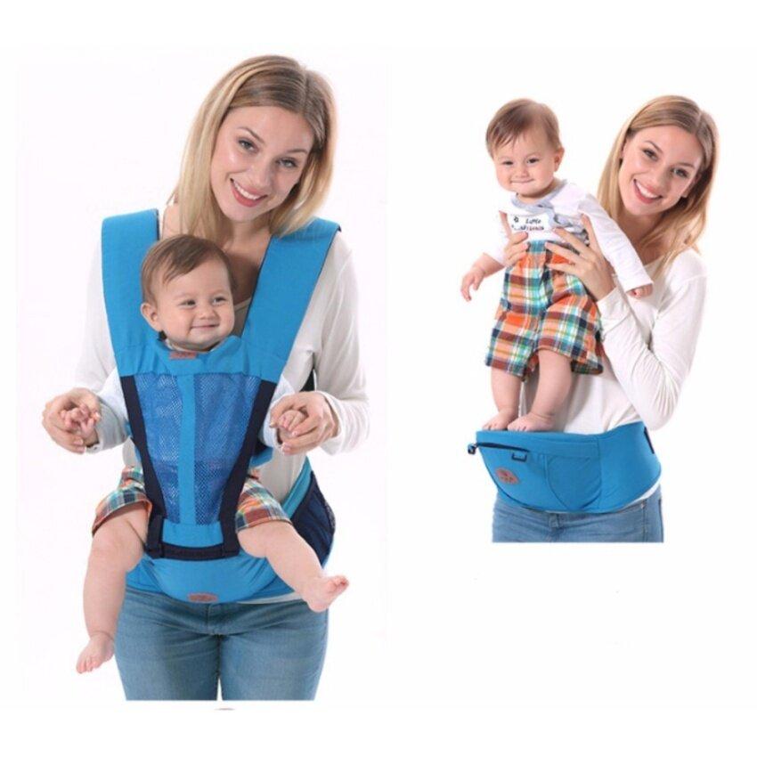 Morestech เป้อุ้มเด็ก Hip Seat 2 in 1 สีฟ้า