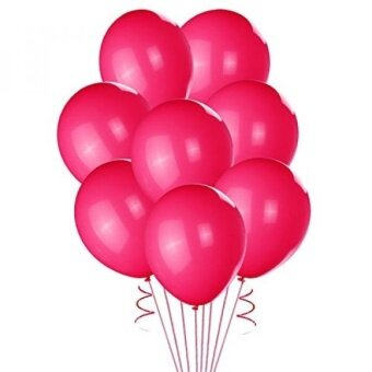 Mothers Day Balloons -Lokman 100 Pcs 10 Premium Hot Pink Latex Balloons for Party Decoration (Hot Pink) - intl