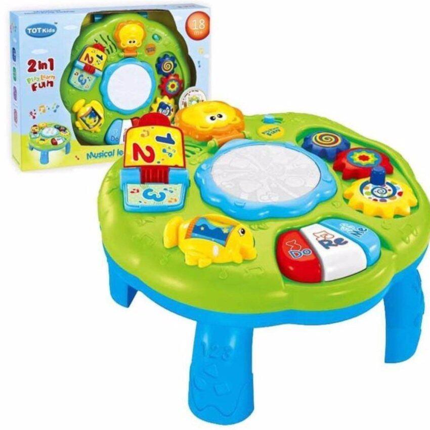 ขาย Musical Learning Table โต๊ะกิจกรรมสำหรับเด็ก 2 in 1 สีเขียว