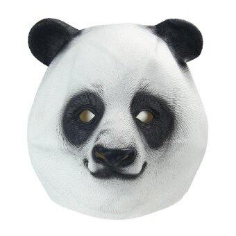 Natural Rubber Panda Head Party Halloween Masquerade Masks(Black And White) - intl