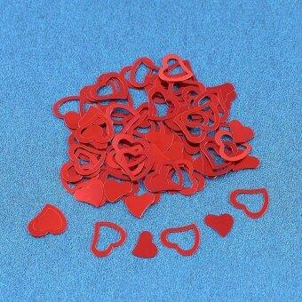 NBJU Heart-shaped Confetti Wedding Throwing Props WeddingDecorations - Red - intl
