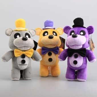 NEW Arrival FNAF Five Nights At Freddy Fazbaer Teddy Bear Plush Toys Stuffed Animals Children Soft Dolls 3 Colors 12 30 cm(Multicolor)(OVERSEAS) - intl