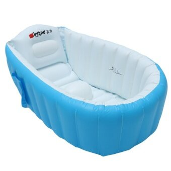 Harga New Baby Kids Toddler Summer Portable Inflatable Bathtub Newborn Thick Bath Tub Blue - intl