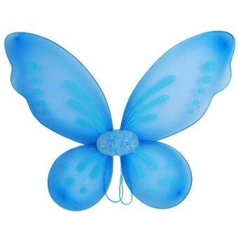 New Halloween Kids Adults Butterfly Fairy Wings Tinkerbell Pixiecostum - intl