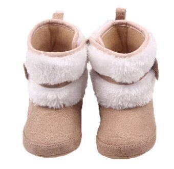 Harga Newborn Baby Cotton Shoes Winter To Help High-Snow Boots CoralVelvet Learn To Walk Shoes WMC093 (khaki)