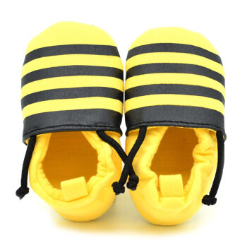 Harga Newborn Toddler Baby Boys Girls Soft Skidproof Prewalkers SlippersShoes 0-18 months Bee