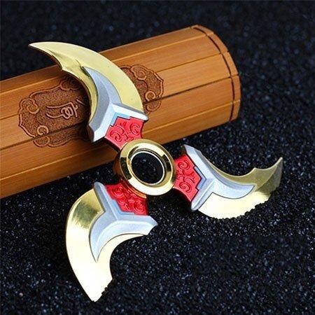 newest hot imported amazing creative Cool Game Genji Darts Legering Metalen Wapen Model Draaibaar Darts Cosplay Props voor Collectie Fidget Spinner Hand Anti stress - intl